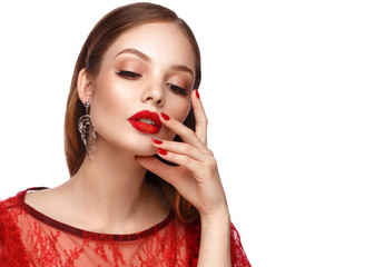 Discover Amazing Options Of Stunning Prom Nails For Red Dress